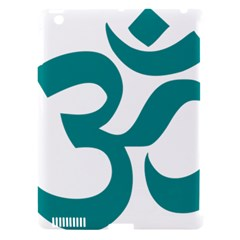 Hindu Om Symbol (dark Cyan) Apple Ipad 3/4 Hardshell Case (compatible With Smart Cover) by abbeyz71