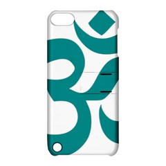 Hindu Om Symbol (dark Cyan) Apple Ipod Touch 5 Hardshell Case With Stand by abbeyz71