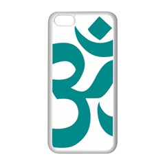 Hindu Om Symbol (dark Cyan) Apple Iphone 5c Seamless Case (white) by abbeyz71