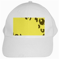 Banner Polkadot Yellow Grey Spot White Cap by Mariart