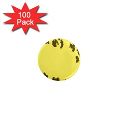 Banner Polkadot Yellow Grey Spot 1  Mini Magnets (100 Pack)  by Mariart