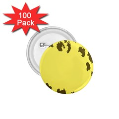Banner Polkadot Yellow Grey Spot 1 75  Buttons (100 Pack)