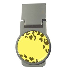 Banner Polkadot Yellow Grey Spot Money Clips (round)  by Mariart