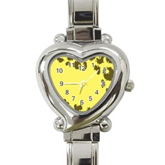 Banner Polkadot Yellow Grey Spot Heart Italian Charm Watch by Mariart