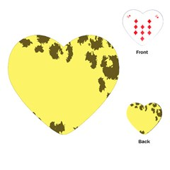 Banner Polkadot Yellow Grey Spot Playing Cards (heart)  by Mariart