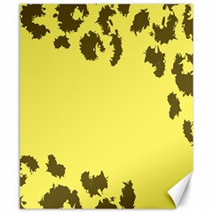 Banner Polkadot Yellow Grey Spot Canvas 20  X 24   by Mariart