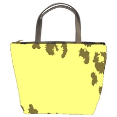 Banner Polkadot Yellow Grey Spot Bucket Bags by Mariart
