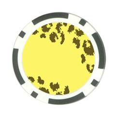 Banner Polkadot Yellow Grey Spot Poker Chip Card Guard (10 Pack) by Mariart