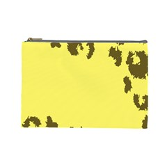 Banner Polkadot Yellow Grey Spot Cosmetic Bag (large)  by Mariart