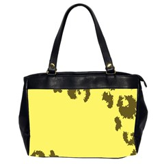 Banner Polkadot Yellow Grey Spot Office Handbags (2 Sides)  by Mariart