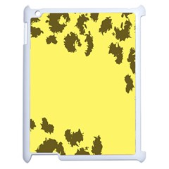 Banner Polkadot Yellow Grey Spot Apple Ipad 2 Case (white) by Mariart