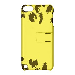 Banner Polkadot Yellow Grey Spot Apple Ipod Touch 5 Hardshell Case With Stand by Mariart