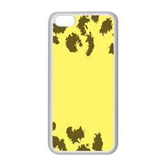 Banner Polkadot Yellow Grey Spot Apple Iphone 5c Seamless Case (white) by Mariart