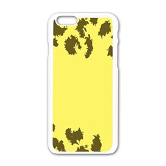 Banner Polkadot Yellow Grey Spot Apple Iphone 6/6s White Enamel Case by Mariart