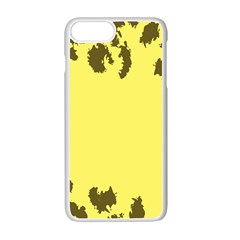 Banner Polkadot Yellow Grey Spot Apple Iphone 7 Plus White Seamless Case by Mariart