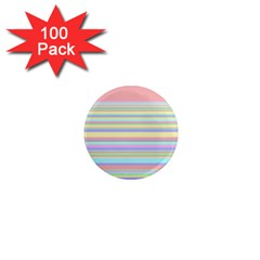 All Ratios Color Rainbow Pink Yellow Blue Green 1  Mini Magnets (100 Pack)  by Mariart