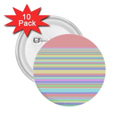 All Ratios Color Rainbow Pink Yellow Blue Green 2 25  Buttons (10 Pack)