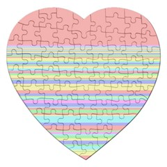 All Ratios Color Rainbow Pink Yellow Blue Green Jigsaw Puzzle (heart) by Mariart