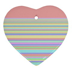 All Ratios Color Rainbow Pink Yellow Blue Green Heart Ornament (two Sides) by Mariart