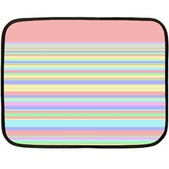 All Ratios Color Rainbow Pink Yellow Blue Green Fleece Blanket (mini) by Mariart