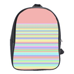 All Ratios Color Rainbow Pink Yellow Blue Green School Bags(large)