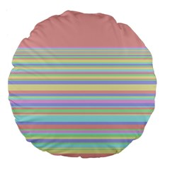 All Ratios Color Rainbow Pink Yellow Blue Green Large 18  Premium Flano Round Cushions by Mariart