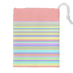 All Ratios Color Rainbow Pink Yellow Blue Green Drawstring Pouches (xxl) by Mariart