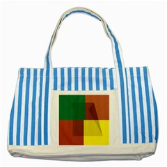 Albers Out Plaid Green Pink Yellow Red Line Striped Blue Tote Bag by Mariart