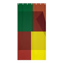 Albers Out Plaid Green Pink Yellow Red Line Shower Curtain 36  X 72  (stall)  by Mariart