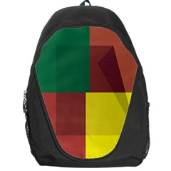 Albers Out Plaid Green Pink Yellow Red Line Backpack Bag by Mariart