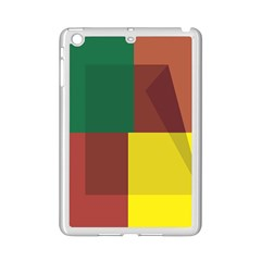 Albers Out Plaid Green Pink Yellow Red Line Ipad Mini 2 Enamel Coated Cases by Mariart