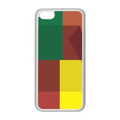 Albers Out Plaid Green Pink Yellow Red Line Apple Iphone 5c Seamless Case (white) by Mariart