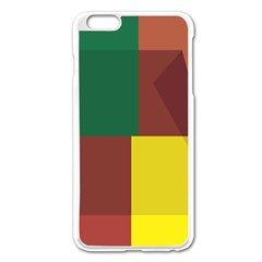 Albers Out Plaid Green Pink Yellow Red Line Apple Iphone 6 Plus/6s Plus Enamel White Case