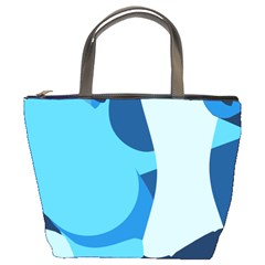 Blue Polka Bucket Bags by Mariart
