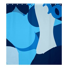 Blue Polka Shower Curtain 66  X 72  (large)  by Mariart