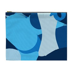Blue Polka Cosmetic Bag (xl) by Mariart