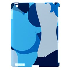 Blue Polka Apple Ipad 3/4 Hardshell Case (compatible With Smart Cover) by Mariart
