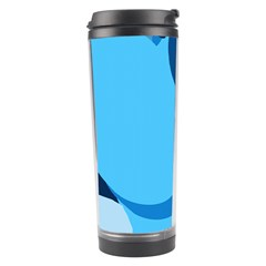 Blue Polka Travel Tumbler by Mariart