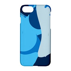 Blue Polka Apple Iphone 7 Hardshell Case by Mariart