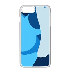 Blue Polka Apple Iphone 7 Plus White Seamless Case by Mariart