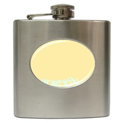 Bubbles Yellow Blue White Polka Hip Flask (6 Oz) by Mariart