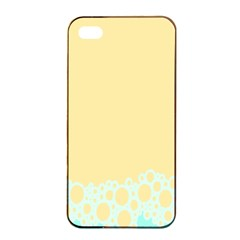 Bubbles Yellow Blue White Polka Apple Iphone 4/4s Seamless Case (black) by Mariart