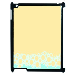 Bubbles Yellow Blue White Polka Apple Ipad 2 Case (black) by Mariart