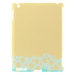 Bubbles Yellow Blue White Polka Apple Ipad 3/4 Hardshell Case (compatible With Smart Cover) by Mariart