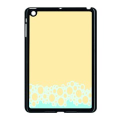 Bubbles Yellow Blue White Polka Apple Ipad Mini Case (black) by Mariart