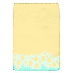 Bubbles Yellow Blue White Polka Flap Covers (l)  by Mariart