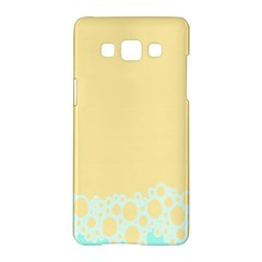 Bubbles Yellow Blue White Polka Samsung Galaxy A5 Hardshell Case  by Mariart