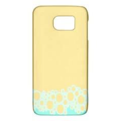 Bubbles Yellow Blue White Polka Galaxy S6