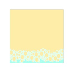 Bubbles Yellow Blue White Polka Small Satin Scarf (square) by Mariart