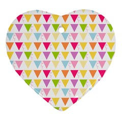 Bunting Triangle Color Rainbow Ornament (heart)